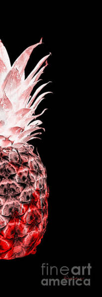 Photograph - 14lr Artistic Glowing Pineapple Digital Art Red by Ricardos Creations