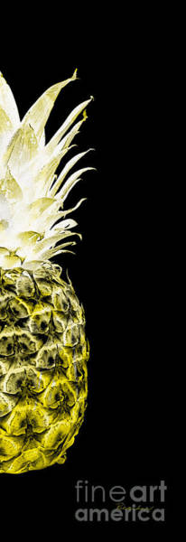 Photograph - 14nr Artistic Glowing Pineapple Digital Art Lemon Yellow by Ricardos Creations