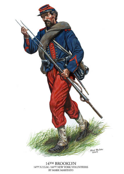 Wall Art - Painting - 14th Brooklyn Soldier - 14th New York State Militia - 84th New York Volunteers by Mark Maritato