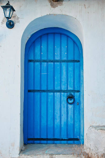 Archway Photograph - Blue Door by Tom Gowanlock