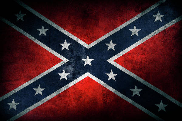 Wall Art - Photograph - Confederate Flag 21 by Les Cunliffe
