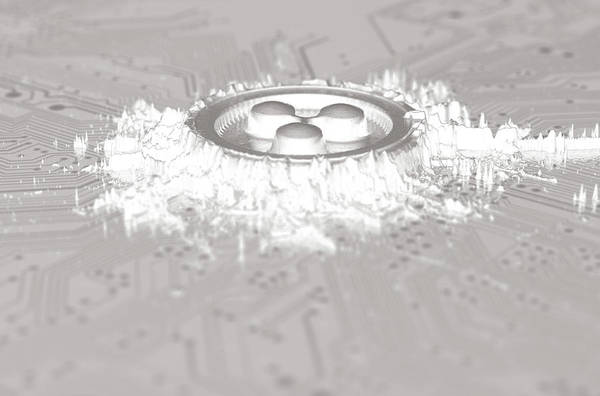 Ripples Digital Art - Cryptocurrency Mine On Circuit Board by Allan Swart