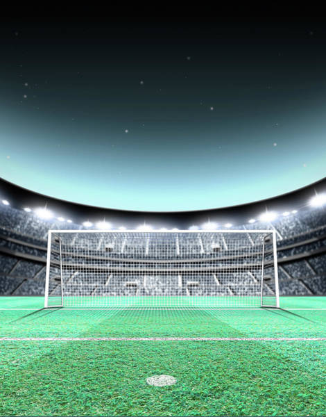 Wall Art - Digital Art - Floodlit Stadium Night by Allan Swart