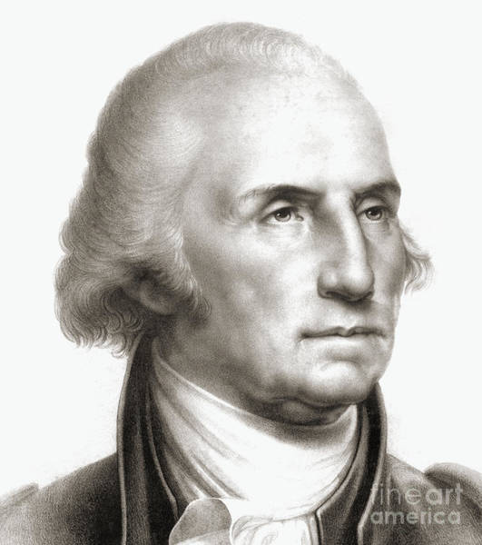 Handsome Drawing - George Washington by Rembrandt Peale