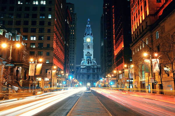 Photograph - Philadelphia Street by Songquan Deng