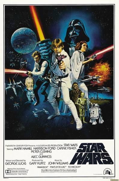 Wall Art - Digital Art - Star Wars Episode Iv - A New Hope 1977 by Geek N Rock