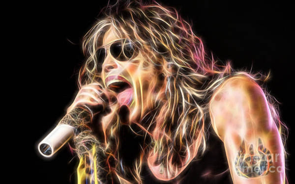 Wall Art - Mixed Media - Steven Tyler Collection by Marvin Blaine