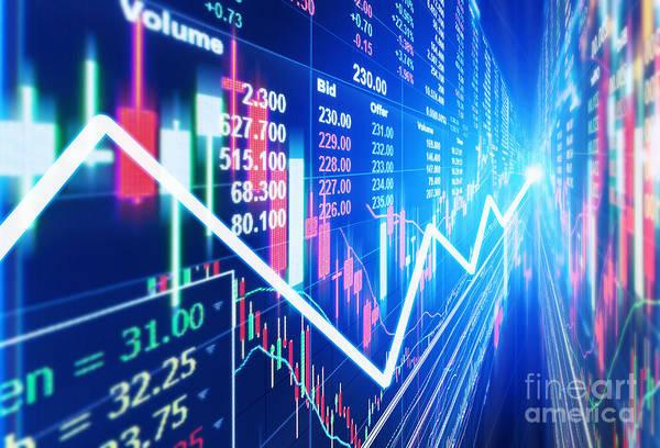 Stock Market Concept Art Print