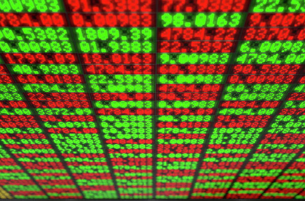 Wall Art - Digital Art - Stock Market Digital Board by Allan Swart
