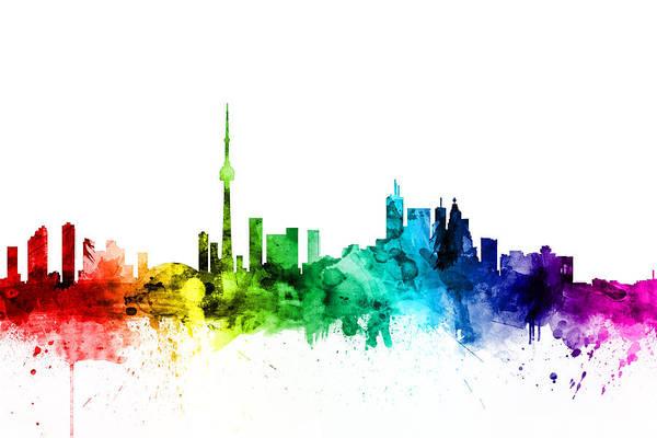 Toronto Wall Art - Digital Art - Toronto Canada Skyline by Michael Tompsett
