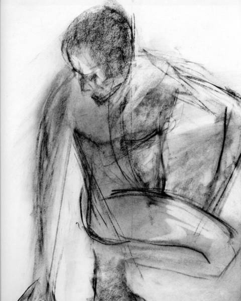 Male Figure Drawing - Rcnpaintings.com by Chris N Rohrbach