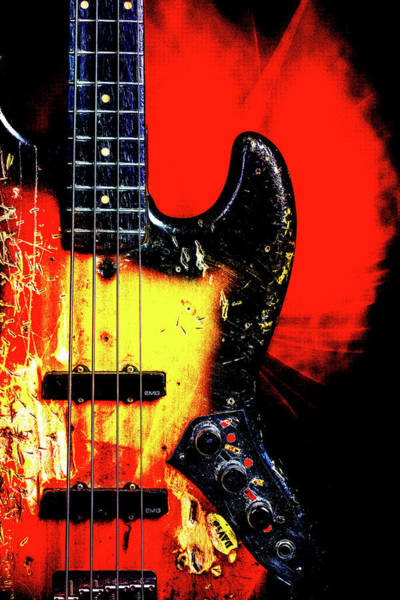 Photograph - 15.1834 011.1834c Jazz Bass 1969 Old 69 by M K Miller