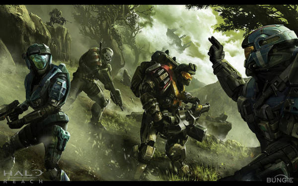 Wall Art - Digital Art - 15922 Halo Spartans Halo Reach by Mery Moon