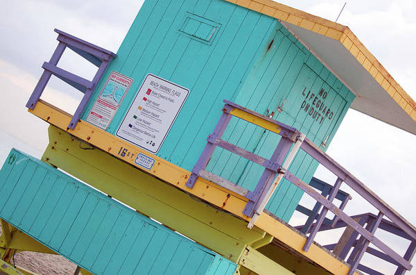 Wall Art - Photograph - 15th Street Lifeguard Tower by Art Block Collections