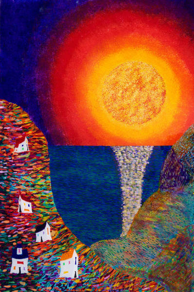 Wall Art - Painting - 16-7 Village Sun by Patrick OLeary