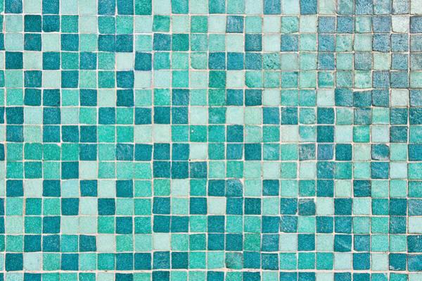 Wall Art - Photograph - Blue Tiles by Tom Gowanlock