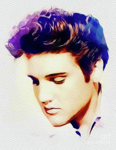 Memphis Painting - Elvis Presley, Rock And Roll Legend by John Springfield