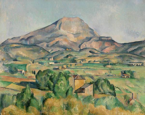 Wall Art - Painting - Mont Sainte-victoire by Paul Cezanne