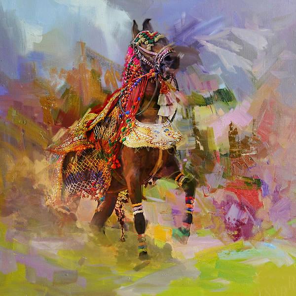 Polo Wall Art - Painting - 16 Pakistan Folk Punjab B by Maryam Mughal