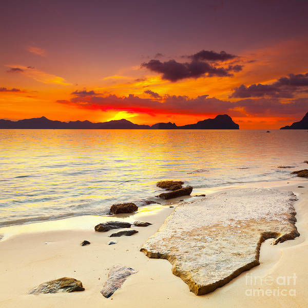 Vacation Time Photograph - Sunset by MotHaiBaPhoto Prints