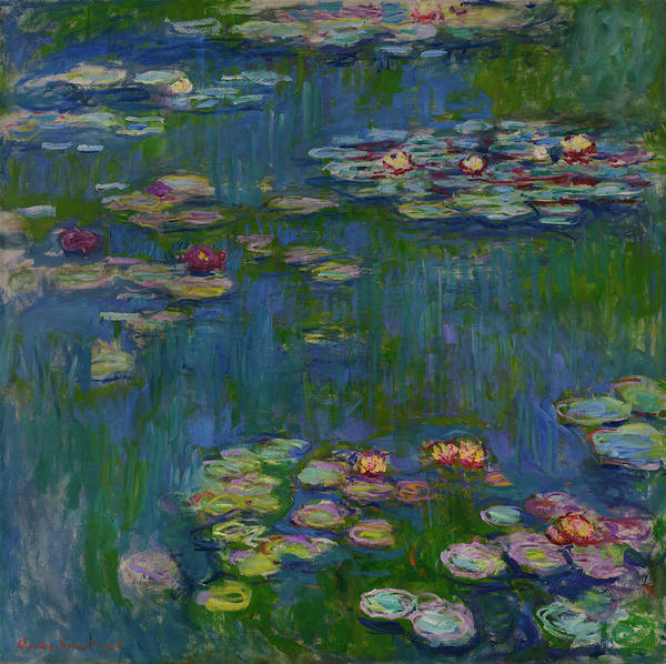 Nature Knows Best Wall Art - Painting - The Water Lilies by Claude Monet