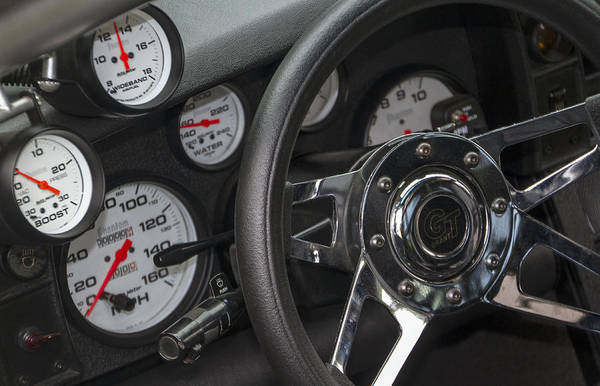 Photograph - 160 Mph Dashboard by Bob Slitzan