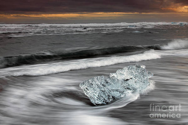 Photograph - Melting Ice On Beach by Arterra Picture Library
