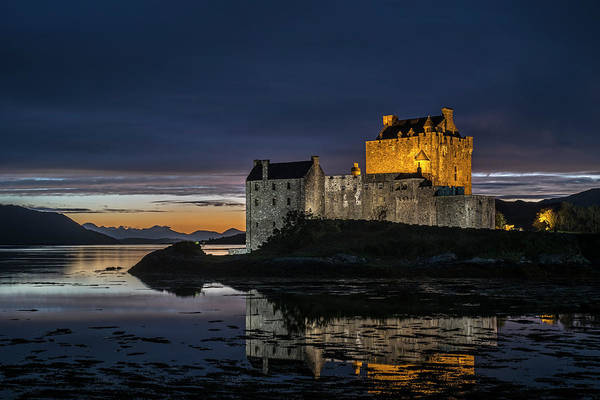 Photograph - Eilean Donan Castle At Night, Scotland by Arterra Picture Library