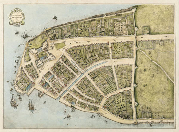 Revolutionary War Mixed Media - 1660 New Amsterdam Map by Dan Sproul