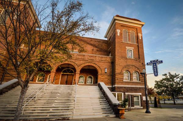 Photograph - 16th Street Baptist Church Steps In Birmingham Alabama by Michael Thomas