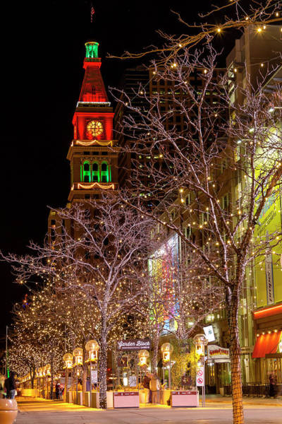 Photograph - 16th Street Mall Denver Co Holiday Lights by Teri Virbickis