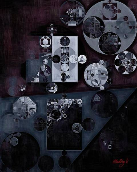 Clay Digital Art - Abstract Painting - Smoky Black by Vitaliy Gladkiy