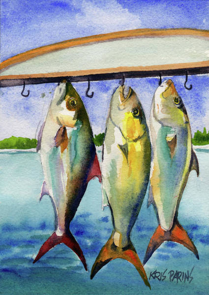 Wall Art - Painting - Amber Jack by Kris Parins