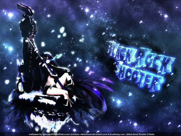 Fantasy Digital Art - Black Rock Shooter by Super Lovely