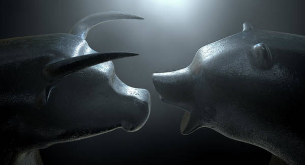 Wall Art - Digital Art - Bull Versus Bear by Allan Swart
