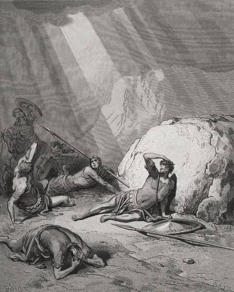 Wall Art - Drawing - Engraving From The Dore Bible by Vintage Design Pics