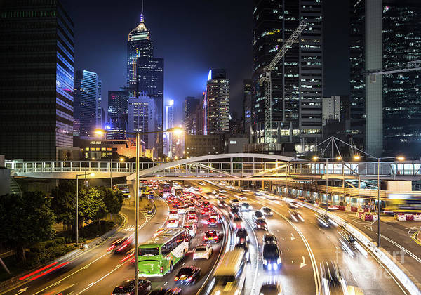 Photograph - Hong Kong Night Rush by Didier Marti