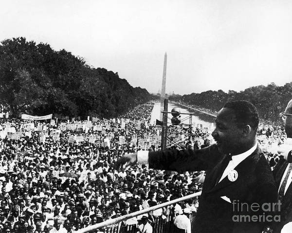 Rally Photograph - Martin Luther King, Jr by Granger