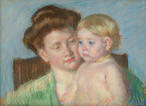 Pastel - Mother And Child by Mary Cassatt