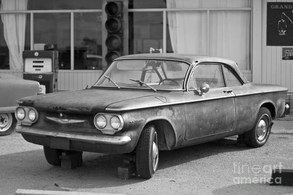Corvair Photograph - Route 66 Cars Cafes Restaurants Hotels Motels by ELITE IMAGE photography By Chad McDermott