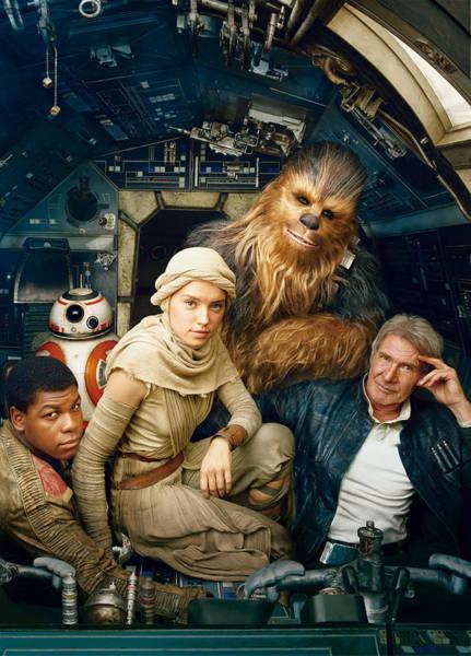 Yoda Digital Art - Star Wars Episode Vii - The Force Awakens 2015 by Geek N Rock