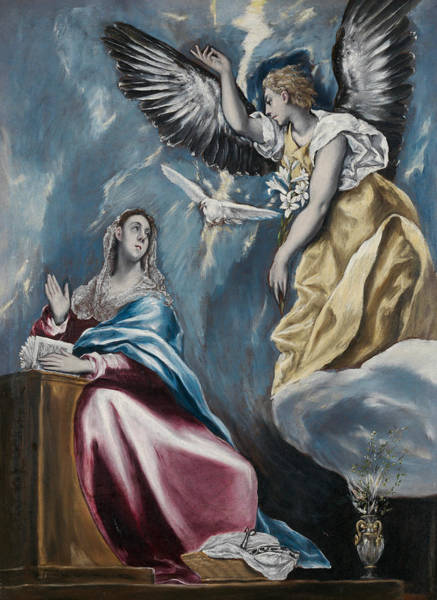 Painting - The Annunciation by El Greco