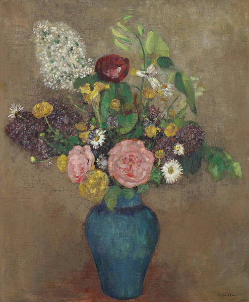 Painting - Vase Of Flowers  by Odilon Redon