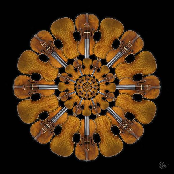 Photograph - 1728 Stradivarius Rosette by Endre Balogh