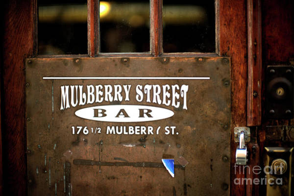 Photograph - 176 1/2 Mulberry Street by John Rizzuto
