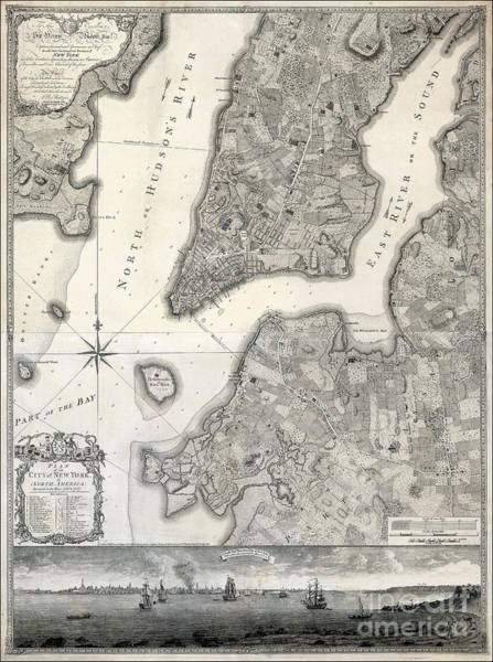 Wall Art - Photograph - 1766 Map Of New York City by Jon Neidert