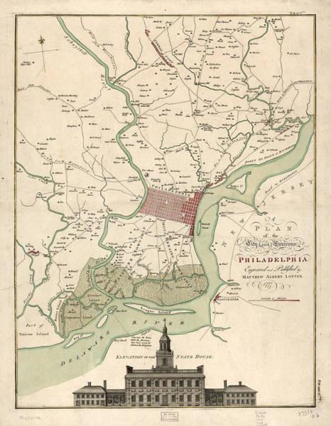 Painting - 1777 Philadelphia by Matthaus Albrecht Lotter