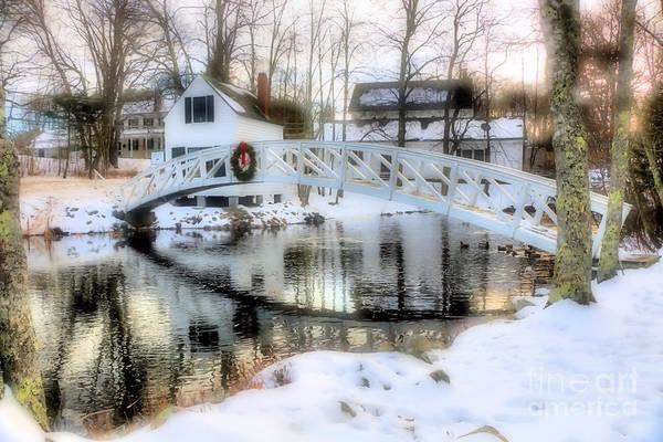 Centennial Bridge Photograph - 1780 Somesville Selectman's Building And Bridge  by Elizabeth Dow