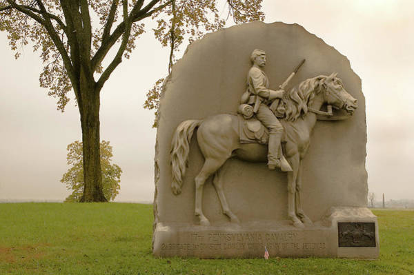 Photograph - 17th Pennsylvania Monument by Mick Burkey