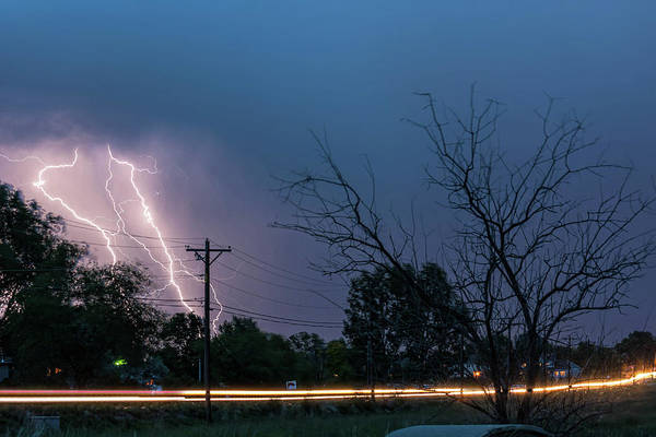 Photograph - 17th Street Neon Lights And Lightning Strikes by James BO Insogna